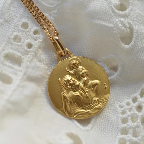 Medaille bapteme Saint Christophe - Porteur du Christ