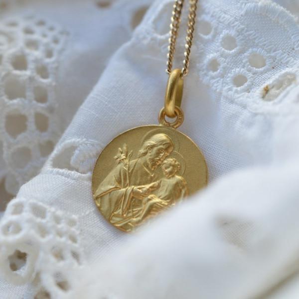 Medaille bapteme Saint Joseph des Lys
