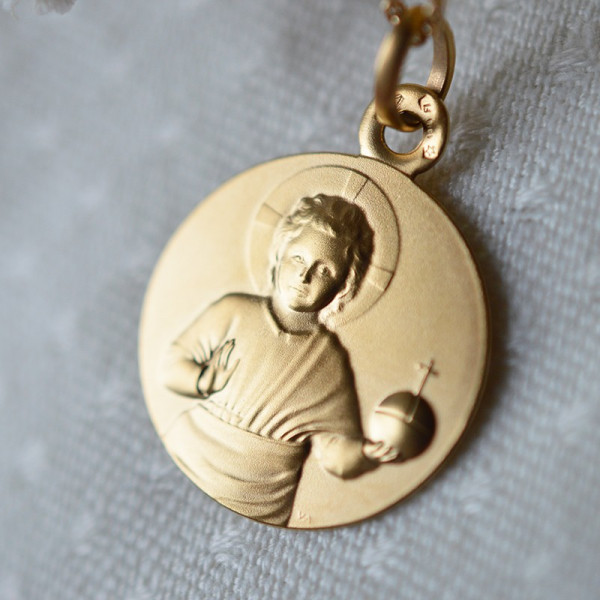 Medaille bapteme Jésus de Fra Angelico