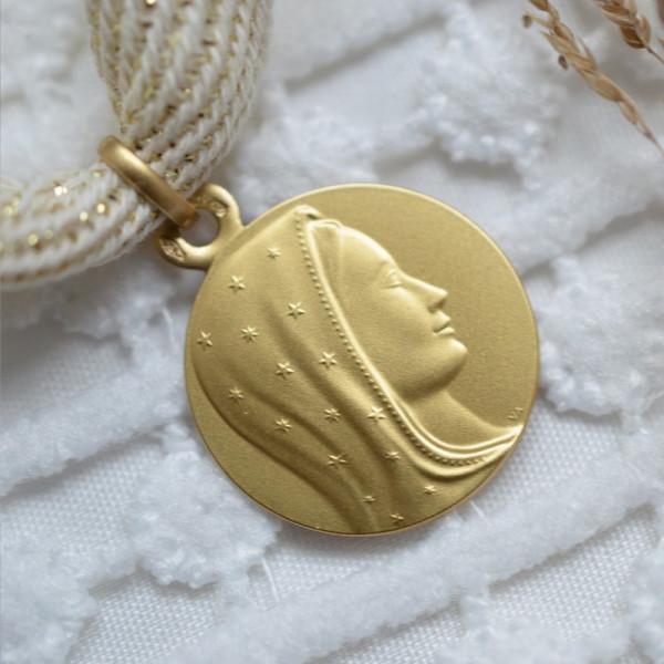Medaille bapteme Vierge Céleste