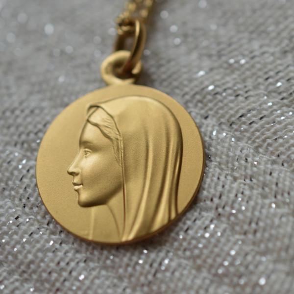 Medaille bapteme Vierge de profil