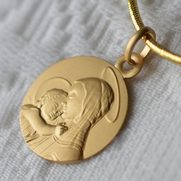 medaille bapteme Portrait de la vierge de Botticelli