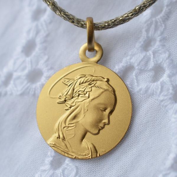 Medaille bapteme Portrait de la Vierge de Lippi