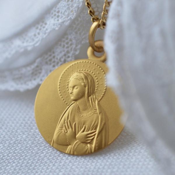 Medaille bapteme L'Annonciation de Fra Angelico