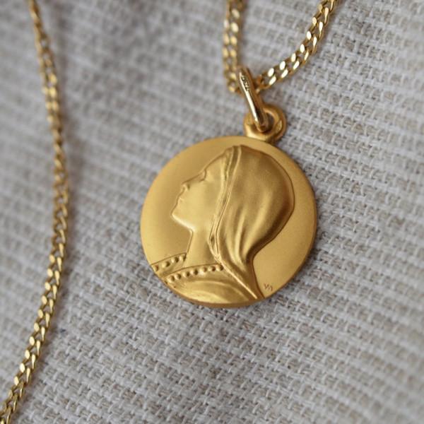 Medaille bapteme Vierge de l'Angélus