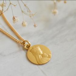 Medaille bapteme Portrait de Notre-Dame de la Sagesse