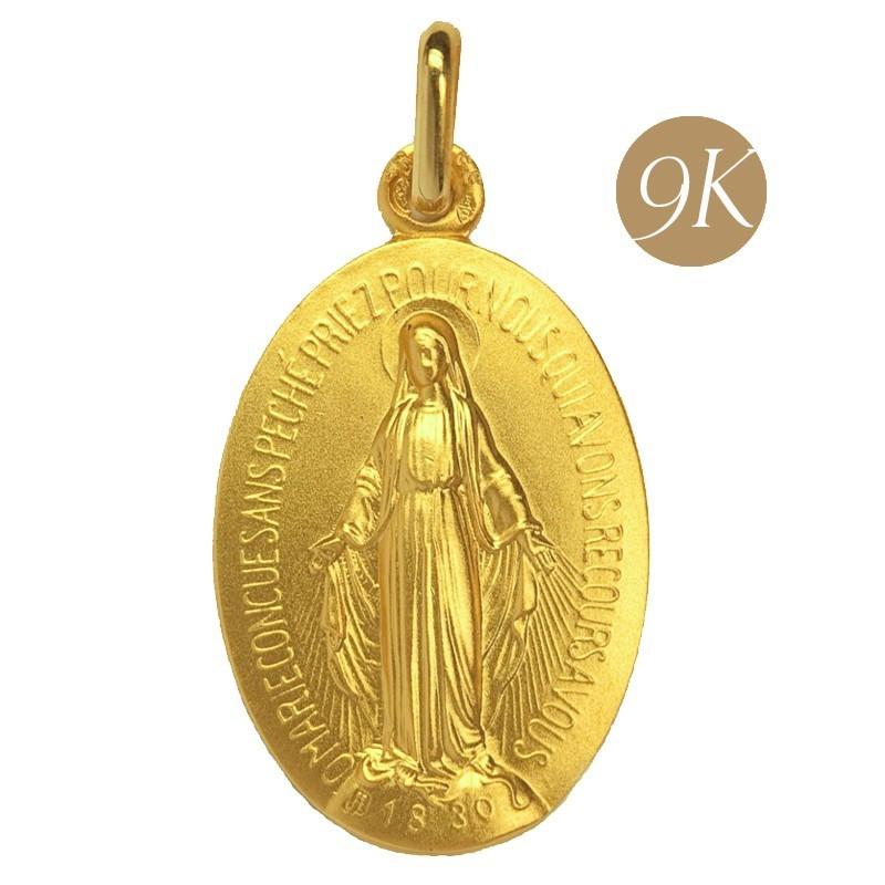 Médaille Miraculeuse 9 carats