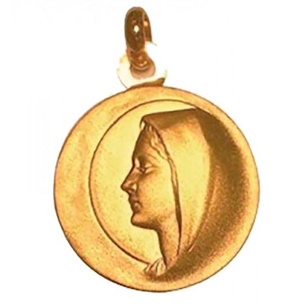 Medaille bapteme Marie bienveillante en or - Maison Laudate