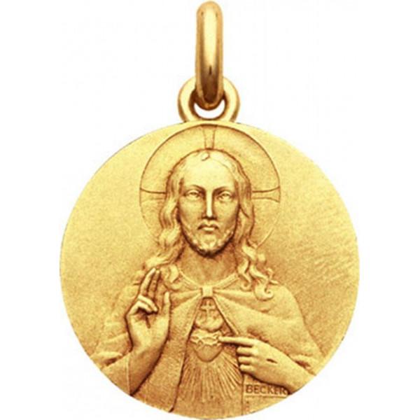 mini medaille bapteme Sacré Coeur