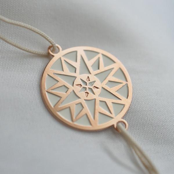 Bracelet Ma bonne étoile plaqué or rose laqué