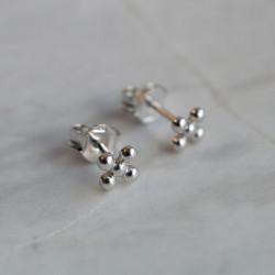 Boucles d'oreilles croix Laure argent