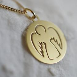 Bijou pendentif Médaille ange ajouré