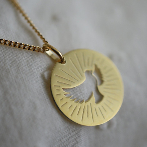 Médaille colombe saint esprit