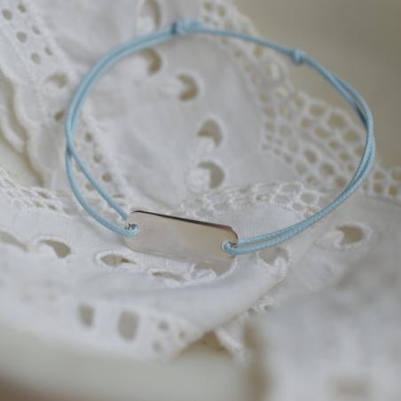 Bracelet personnalisable rectangle cordon