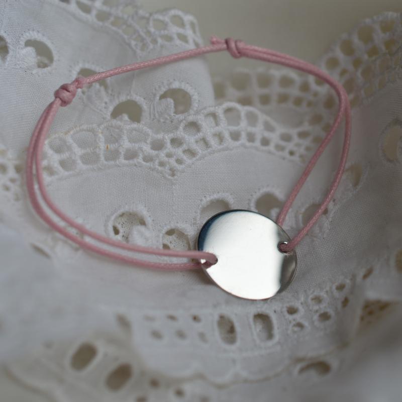Bracelet personnalisable rond cordon