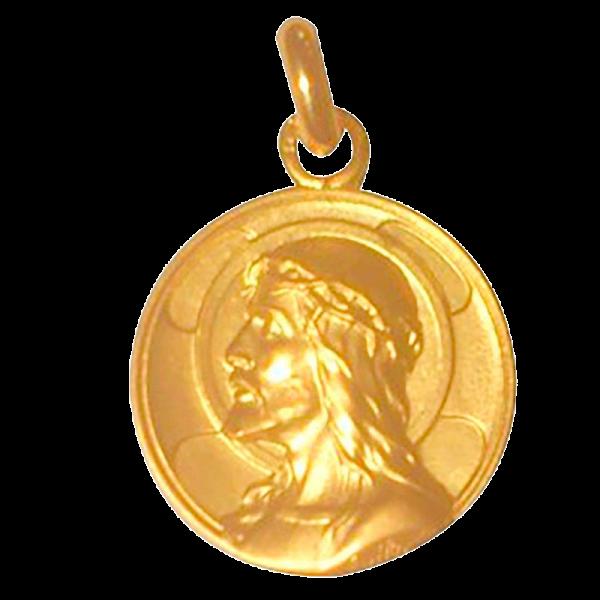 Medaille bapteme Christ Roi