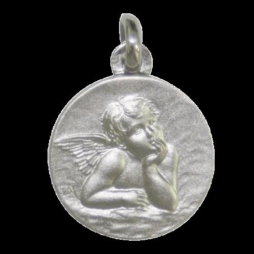 Medaille bapteme Raphael blanc