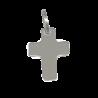 Croix de bapteme Signe de croix or blanc