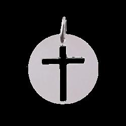 Pendentif Croix ajourée argent