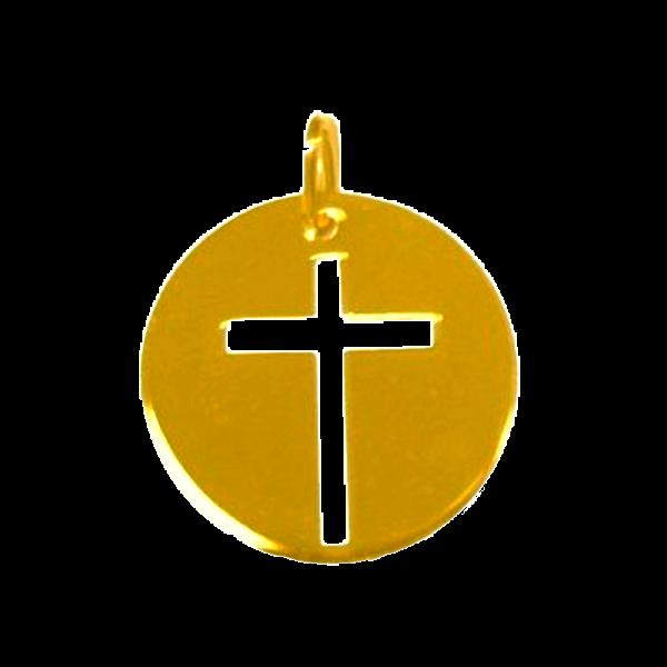 Croix de bapteme croix fine ajourée