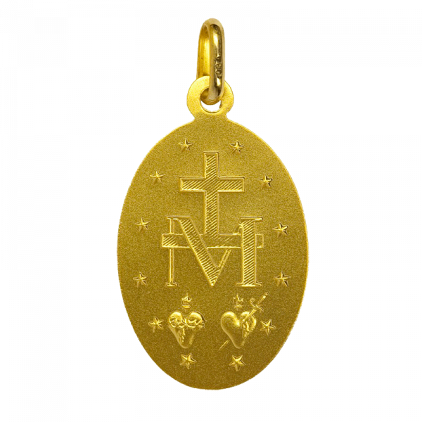 Medaille bapteme Médaille Miraculeuse 9 carats