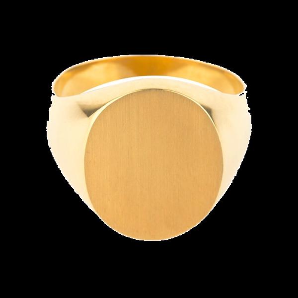 Chevalière Homme ovale 17 x 14,5