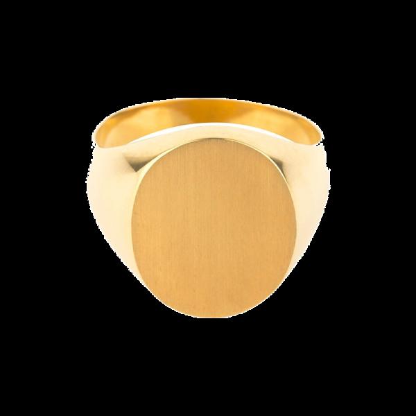 Chevalière Homme ovale 16 x 13