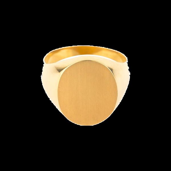 Chevalière Homme ovale 15 x 13
