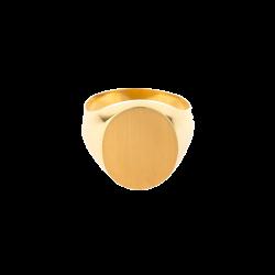 Chevalière Homme ovale