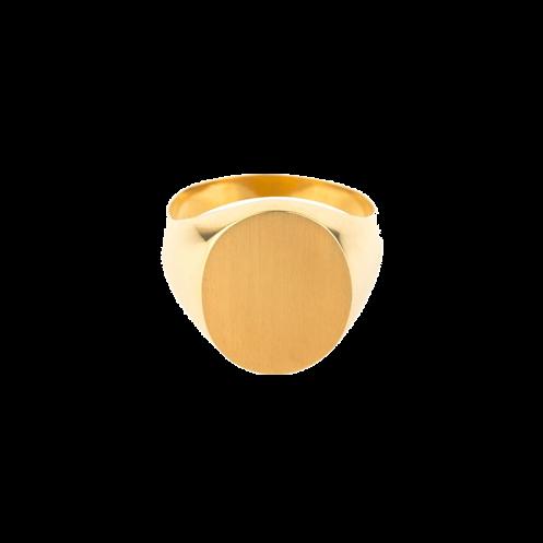 Chevalière sur or Homme ovale 14 x 12