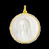 Medaille bapteme Maris stella nacre