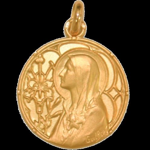 medaille bapteme Notre Dame des Lys