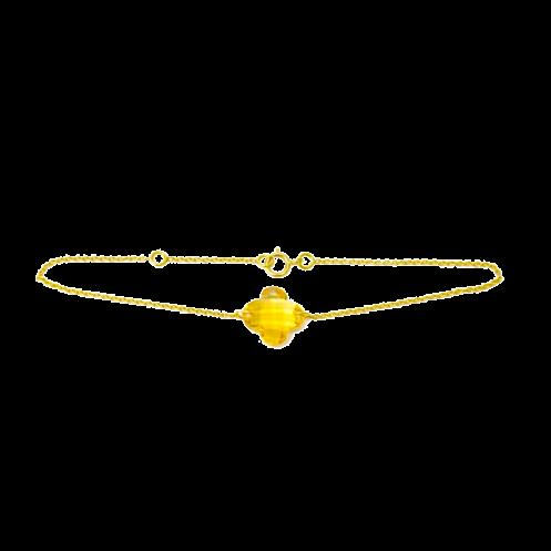 Bracelet trèfle citrine