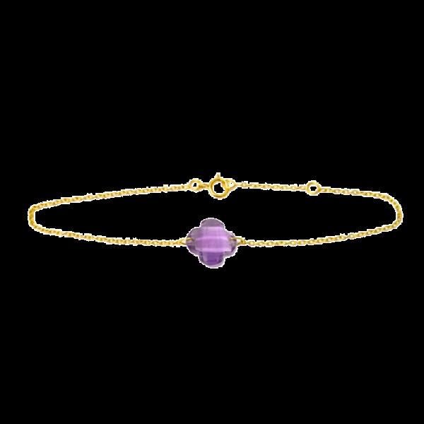 Bracelet trèfle Améthyste