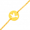 Gourmette bébé colombe ajourée or