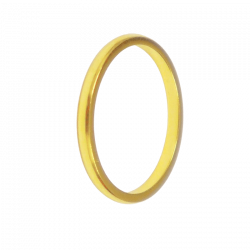 Alliance de mariage demi jonc or jaune
