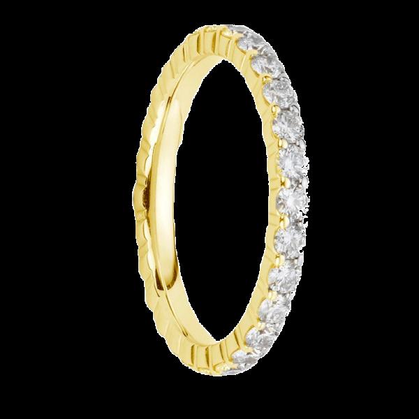 Alliances en diamants griffes or jaune Tour complet 1,1 carat