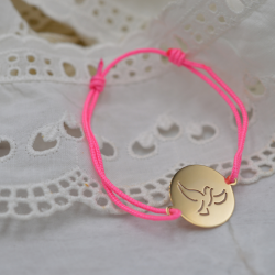 Bracelet sur cordon rose...