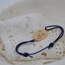 Bracelet sur cordon bleu...