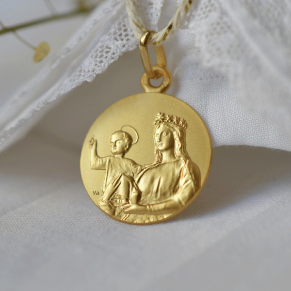 medaille bapteme Notre Dame de France
