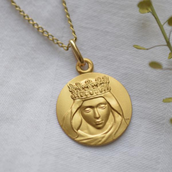 Medaille bapteme Notre Dame de Laudate
