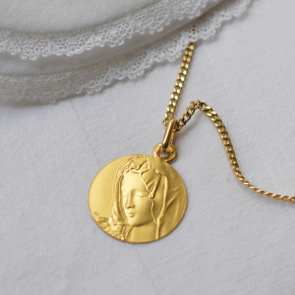 Medaille bapteme La Pieta