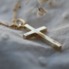 Croix bapteme Grande Croix massive en or