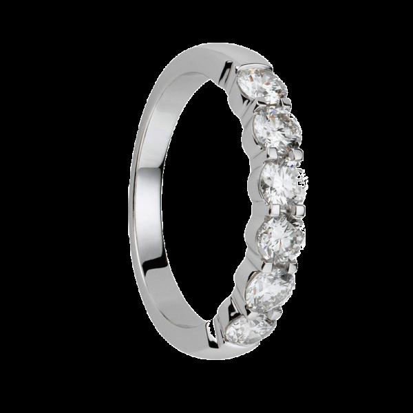 Alliance diamants griffes demi tour 1,1 carats