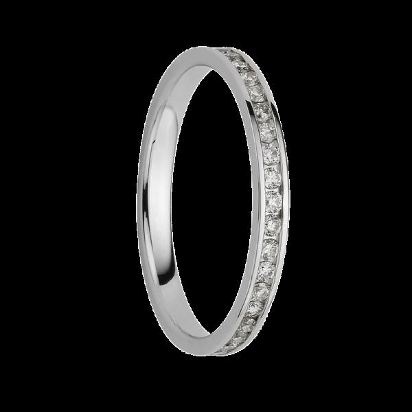 Alliance diamants sertis rails tour complet 0,45 carats