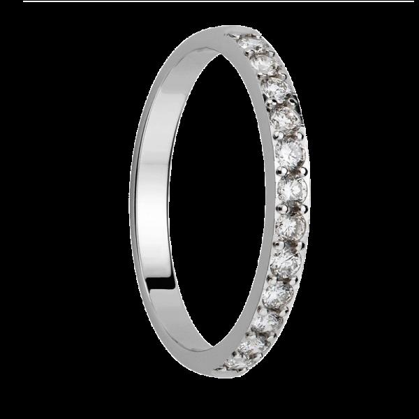 Alliance diamants sertis griffes Demi Tour 0,5 carats