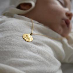 medaille bapteme Vierge à l'enfant rayonnant