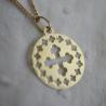 Médaille croix de bapteme romane
