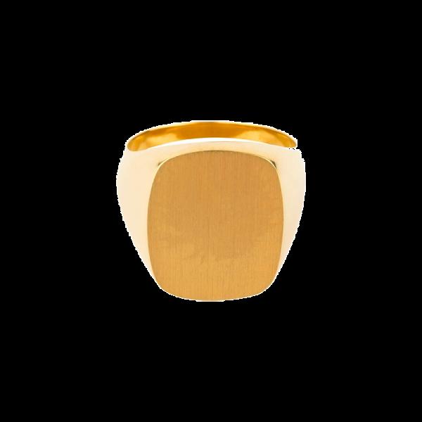 Chevalière sur or Coussin 15 x 12