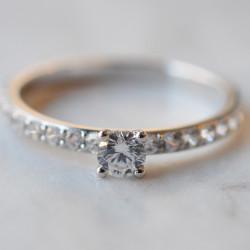 Solitaire Neva diamant or blanc